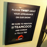 Conan Encourages Guests to Tweet