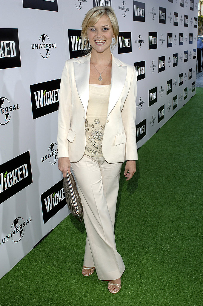 Reese Witherspoon in White Suit at 2005 Wicked