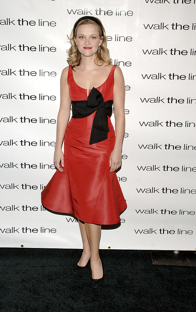 Reese Witherspoon in Red Dress at 2005 Walk the Line NYC Premiere