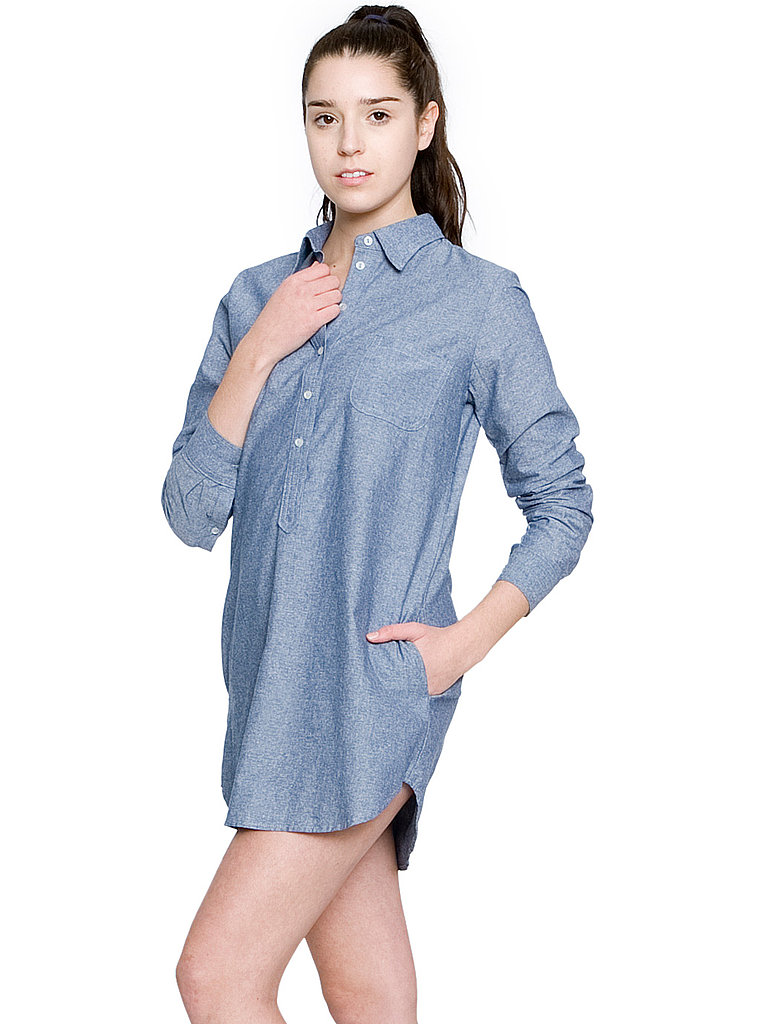 American Apparel Chambray Henley Shirt Dress ($62)