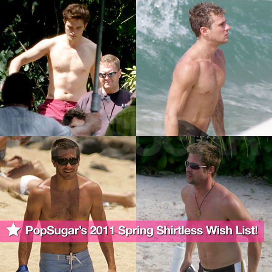 Robert, Andrew, Ryan, and Anthony: PopSugar's 2011 Spring Shirtless Wish List!