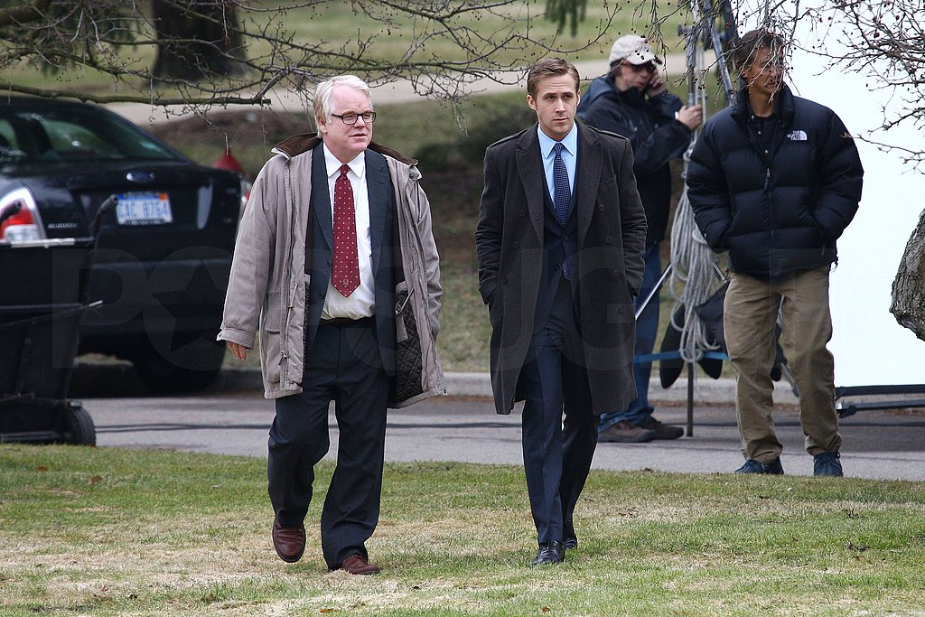 Ryan Gosling Spends Some Set Time With Philip Seymour Hoffman