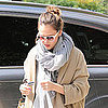 Pictures of a Pregnant Jessica Alba Visiting an Office Building in LA