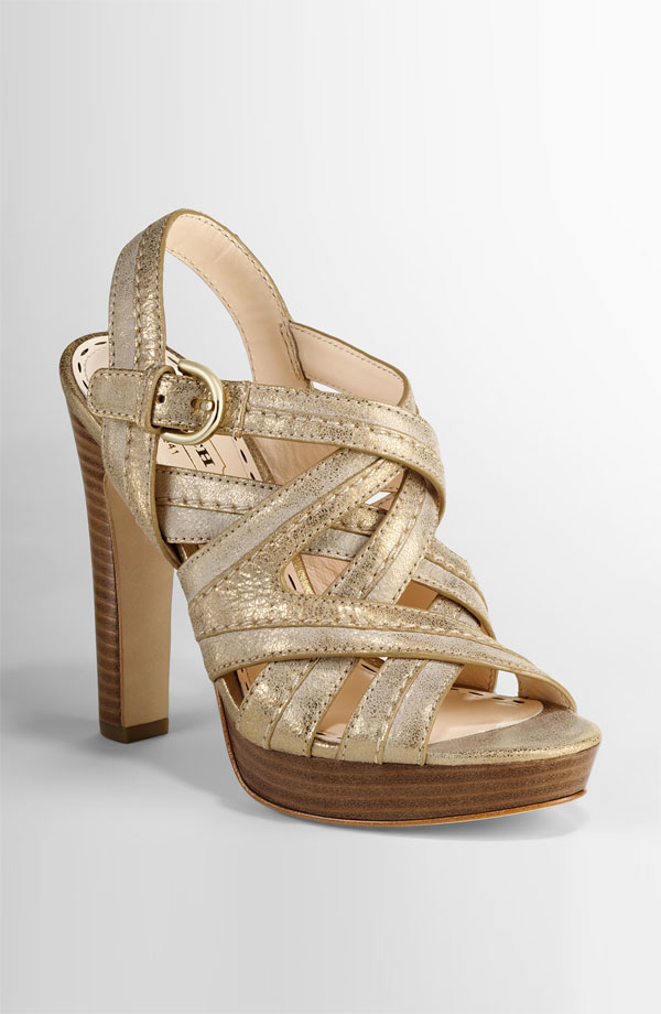 A perfect everyday heel, but the metallic sheen makes this Coach Heel ($198), go easily from day to night.