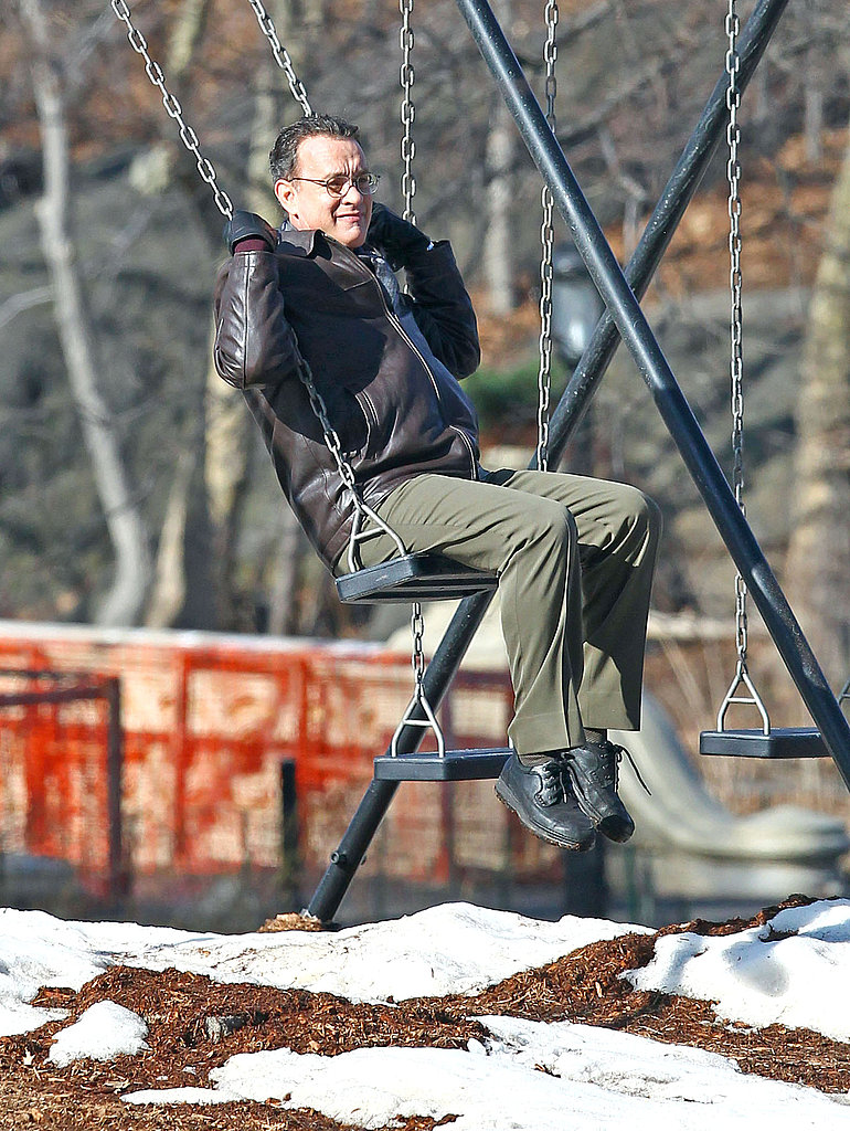 Sandra Bullock Joins Tom Hanks For a Swinging Day on Set