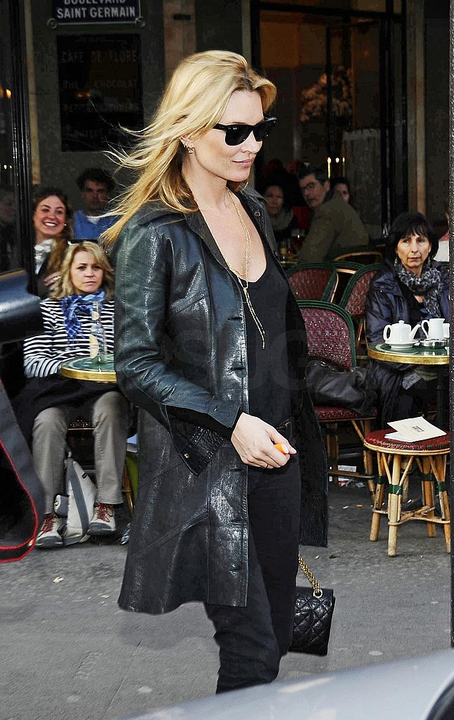Kate Moss Has a Whirlwind Day of Shopping, Rocking, and Walking in Paris With Jamie