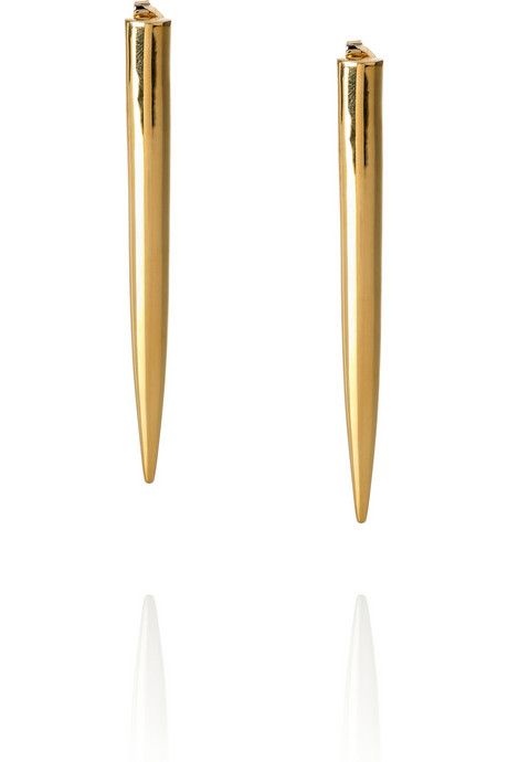 These Eddie Borgo Gold-Plated Spike Earrings ($315) will add polished zest to a range of different 'fits.