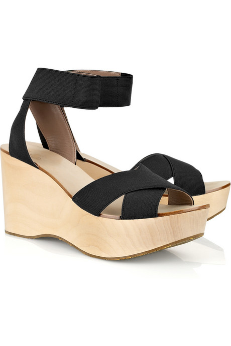 These Belle Sigerson Morrison Wooden Wedge Sandals ($295) are simple, chic, and comfy enough for everyday wear.