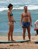 Maggie Gyllenhaal Breaks Out Her Bikini For Surfing Lessons With Shirtless Peter Sarsgaard!
