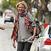 Pictures of Katherine Heigl Leaving Lunch at Little Dom&#039;s