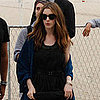 Pictures of Anne Hathaway in Copacabana Beach Promoting Rio