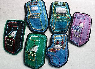 Handmade Arcade Game Brooches