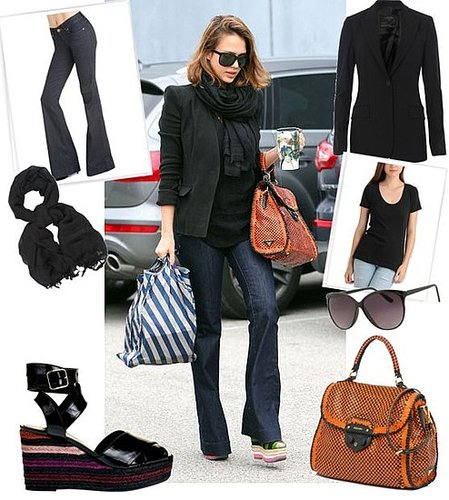 Pictures of Jessica Alba Wearing Prada