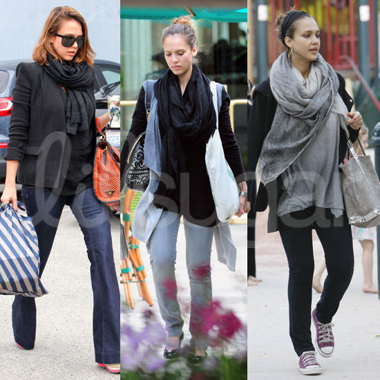 Pictures of Jessica Alba&#039;s Pregnancy Style