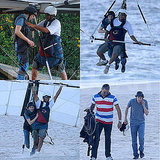 Pictures of Jesse Eisenberg Hang Gliding in Rio
