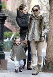 Sarah Jessica Parker Enjoys a Birthday Stroll With Her Little Loves, Tabitha and Marion
