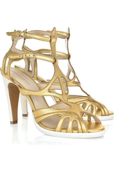 Vanessa Bruno Metallic Leather Sandals ($104, originally $695)