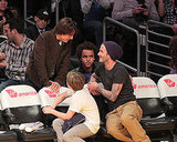 David and Brooklyn Beckham Meet Up With Tom and Connor Cruise at a Star-Studded Lakers Game!