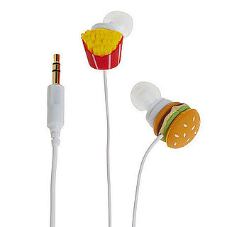 Funny Burger and Fries Earbuds