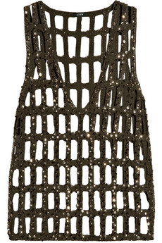 J.Crew Roxie Sequin-Embellished Knitted Tank ($235)
