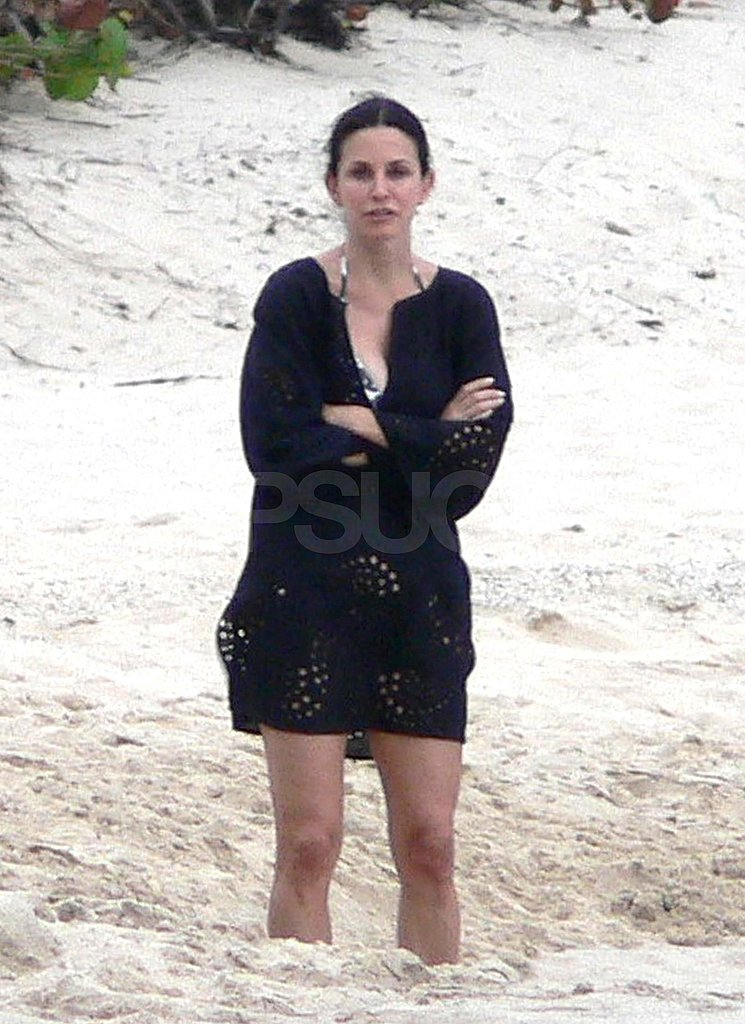 Courteney Cox Breaks Out Her Bikini Body on Vacation With Shirtless Josh Hopkins and Coco!