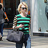 Pictures of January Jones Shopping Mad Men Season 5