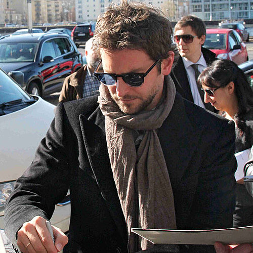 Pictures of Bradley Cooper Signing Autographs in Berlin