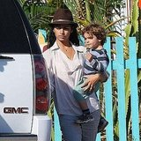 The McConaughey-Alves Family Digs Up Another Day Together by the Beach