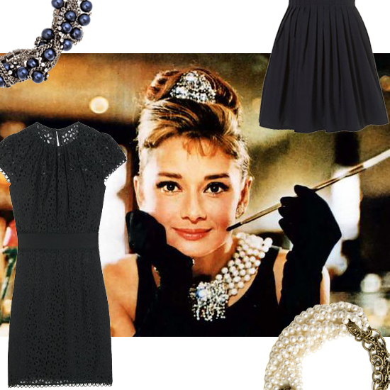 10 Chic and Modern Versions of the Classic Pearl + LBD Outfit