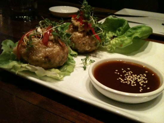 Almond Crusted Shrimp Dumpling Lettuce Wraps