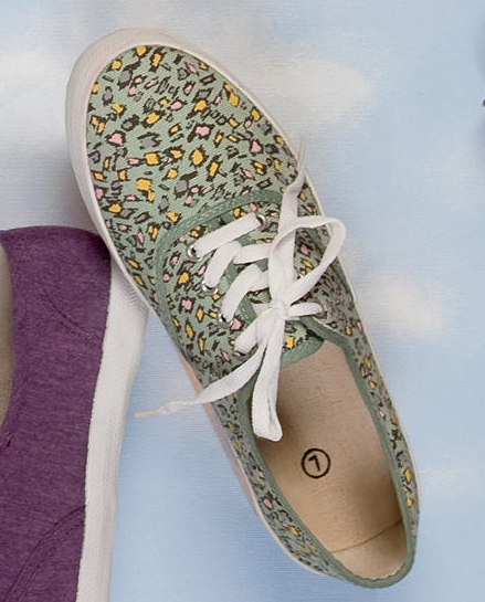 Urban Outfitters Patterned Canvas Sneaker ($20)