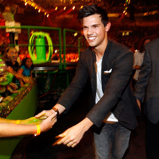 Twilight's Taylor Lautner arrived solo to 2010's festive ceremony.