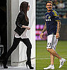 Pictures of Pregnant Victoria Beckham and Ken Paves Watching David Beckham Play Soccer