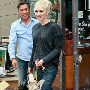 Pictures of Gwen Stefani Leaving the Nail Salon in LA
