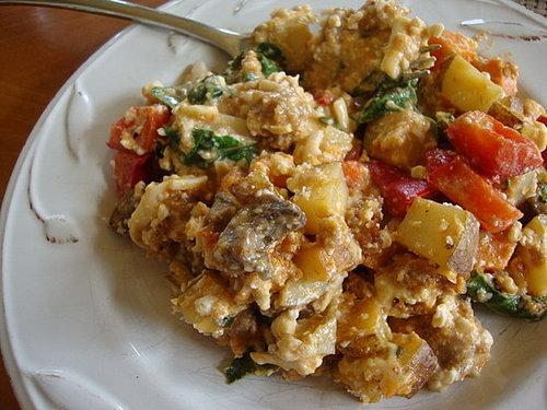 Field Roast and Sweet Potato Breakfast Casserole