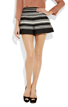 Carven Striped Canvas Shorts ($600)