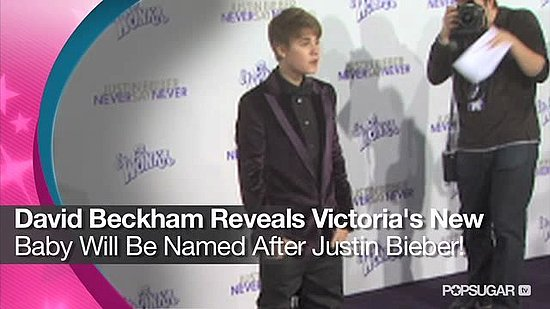Video: David Beckham Reveals Victoria's New Baby Will Be Named After Justin Bieber!