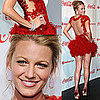 Photos of Blake Lively Wearing Red Marchesa Dress and Brian Atwood Pumps to CinemaCon Awards