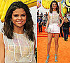 Selena Gomez Wears Christian Cota to Kids&#039; Choice Awards 2011 2011-04-02 17:28:47