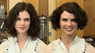 A Great Hairstyle For an Oval or Round Face Shape With Curly Hair