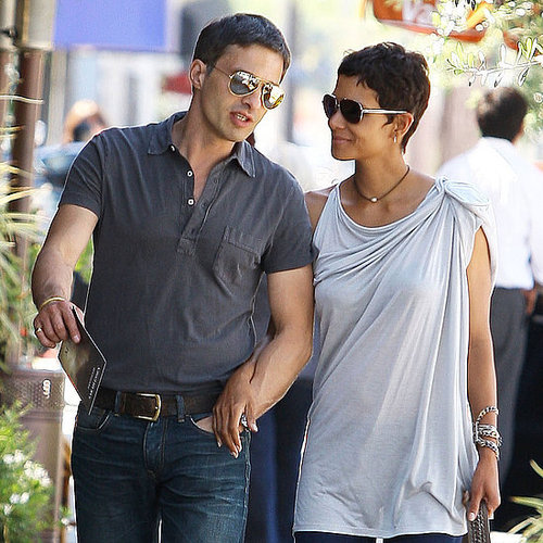 Pictures of Halle Berry and Olivier Martinez Out For Lunch and Holding Hands in LA