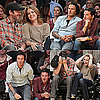 Pictures of David Beckham and Amy Adams at Lakers Game