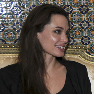 Pictures of Angelina Jolie in Tunisia and Arriving Back at LAX
