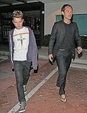 Jude Law and Rafferty Stand Tall Following Their Father-Son Dinner