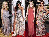 Five Fab Celebrities Inspire the Search For Our Spring-Perfect Maxi Styles