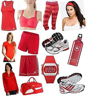 Red Workout Clothing and Gear