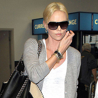 Charlize Theron Pictures at the Airport
