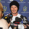 Pictures of David Beckham at the LA Galaxy Press Conference in Toronto