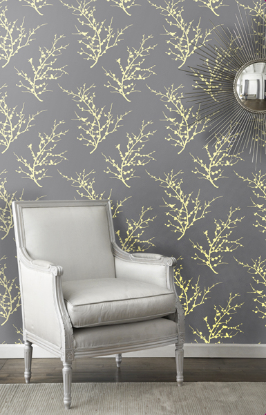 Tempaper Designs offers self-adhesive wallpaper in a range of patterns that can be taken down at a moment's notice, and it's just as durable as permanent wallpaper.