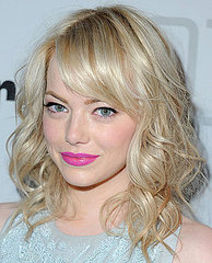 Emma Stone Bright Pink Lipstick Look at Condé Nast Traveler Hot List Party